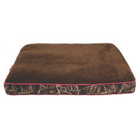 Realtree 40x30 Gusseted Camo Bed with Pink Piping