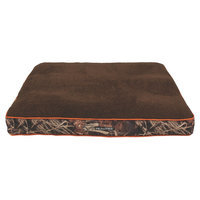 Realtree 40x30 Gusseted Camo Bed with Orange Piping