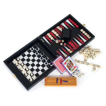 Trademark Global Games Trademark Games Travel Multi Game set in Leather/Vinyl case