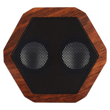 Boombotix Rex Bluetooth Portable Speaker Woodgrain/Cherry, One Size