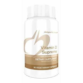 Designs for Health , Vitamin D Supreme , 5,000 IU Vitamin D & K1 & K2, Supports Bone and Arterial Health , 60 Vegetarian Capsules