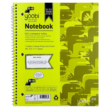 Yoobi, Lcc Yoobi 1 Subject Spiral Notebook, College Ruled - Green Camo
