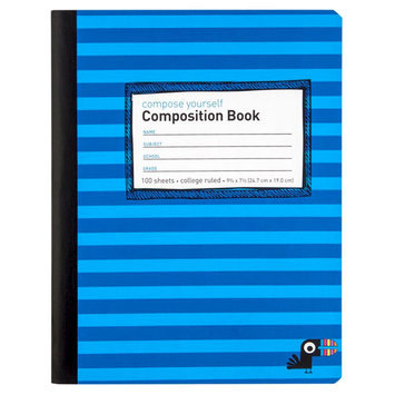 Yoobi, Lcc Yoobi Composition Book, College Ruled - Blue Stripe