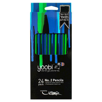 Yoobi, Lcc Yoobi x Usher Round No. 2 Pencils - Blue Drippies