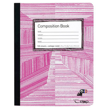 Yoobi, Lcc Yoobi x Usher Composition Book, College Ruled - Pink Lines