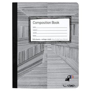 Yoobi, Lcc Yoobi x Usher Composition Book, College Ruled - Black Lines