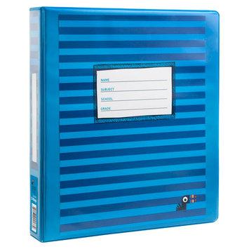 Yoobi, Lcc Yoobi 1 Inch Binder with D Rings - Blue Stripe