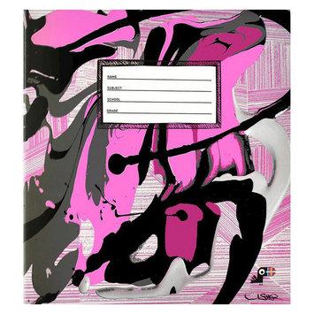 Yoobi, Lcc Yoobi x Usher 1 Inch Binder with D-Rings - Pink Splatter
