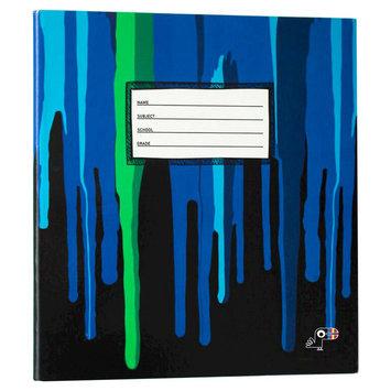 Yoobi, Lcc Yoobi x Usher 1 Inch Binder with D-Rings - Blue Drippies