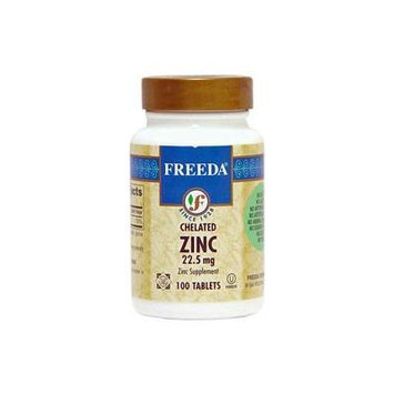 Freeda Kosher Zinc Chelated 22.5 Mg. - 100 TAB