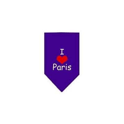 Ahi I Heart Paris Screen Print Bandana Purple Large
