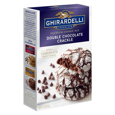 Continental Mills Ghirardelli Double Chocolate Crackle Premium Cookie Mix 13.2oz