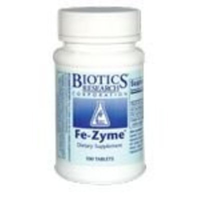 Biotics Research Fe-Zyme 100 Tablets