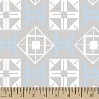 Springs Creative Jack Mod Square Blue Minky Fabric