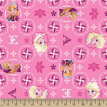 Disney Frozen Sisters Cotton Glitter Fabric