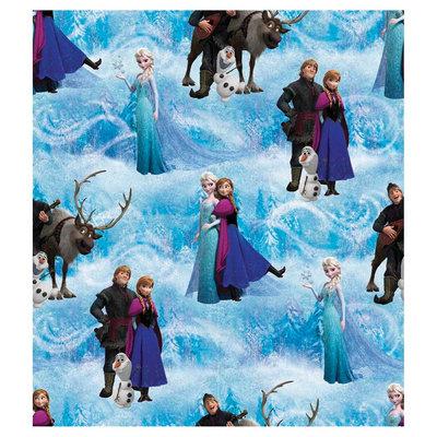 Disney Frozen Scenic Blue Cotton Fabric