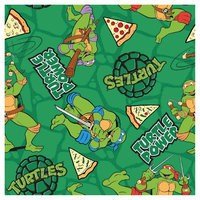 Springs Creative Turtle Power Pizza Toss Cotton Fabric