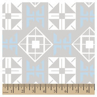 Springs Creative Tilted Square Blue Cotton Fabric