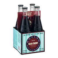 Boylan Bottleworks Brand Black Cherry Vintage Soda Pop - 4 CT