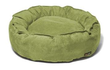 Big Shrimpy Nest Faux Suede Dog Bed, Medium, Leaf