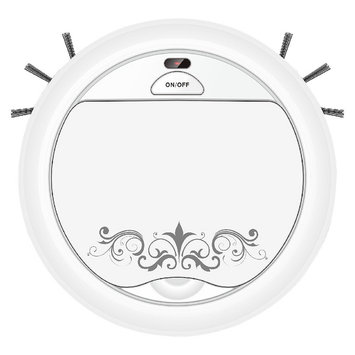 Techko Maid Robotic Hard Floor Vacuum -White