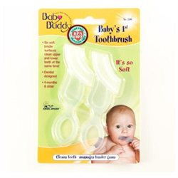 Baby Buddy Babys 1st Toothbrush, Clear, 2 ea