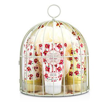 Healthcote & Ivory Vintage Mimosa & Pomegranate Miniature Birdcage with Bath & Body Essentials 4pcs