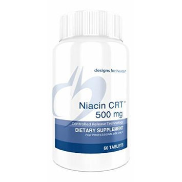 Designs for Health , Niacin CRT , 500mg. , 60 Tablets