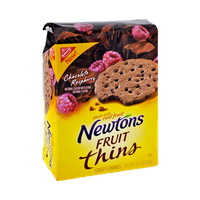 Nabisco Newtons Raspberry Chocolate Fruit Thins Crispy Cookies