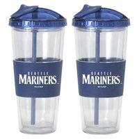 Boelter Brands MLB Mariners Set of 2 No Spill Straw Tumbler - 22oz