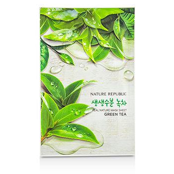 Nature Republic - Real Nature Mask Sheet (Green Tea) 10 sheets