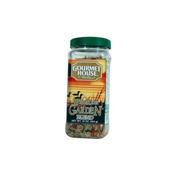 Gourmet House - Wild Rice Garden Blend - 16oz Plastic Jar