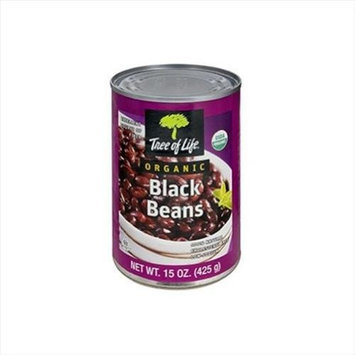 Tree Of Life Bean Black Org 15 OZ -Pack Of 6