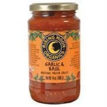 Rising Moon Organic Pasta Sauce Garlic And Basil -- 14 fl oz