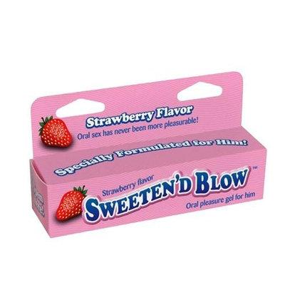 Little Genie Productions Sweeten D Blow Oral Pleasure Gel, Strawberry, 1.5 Ounce