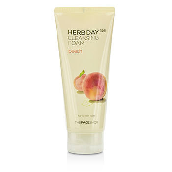 The Face Shop Herb Day 365 Cleansing Foam Peach 170ml