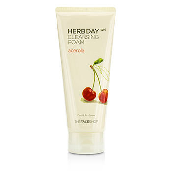 The Face Shop Herb Day 365 Cleansing Foam Acerora 170ml