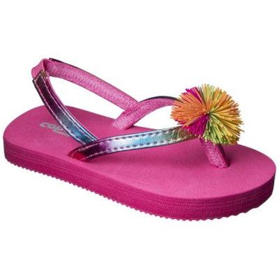 Toddler Girl's Koosh Ball Flip Flop Sandals - Pink 4-5
