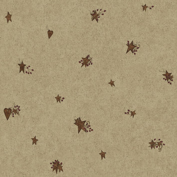 York Wallcoverings, Inc. York Wallcoverings Hearts & Crafts III Tin Star & Heart Wallpaper