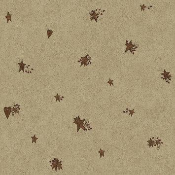 York Wallcoverings, Inc. York Wallcoverings Hearts & Crafts III Tin Star & Heart Wallpaper