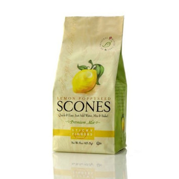 Sticky Fingers Scones Lemon Poppyseed, 15-Ounce (Pack of 3)