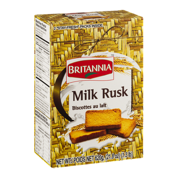 Britannia Milk rusk Biscottes au lait