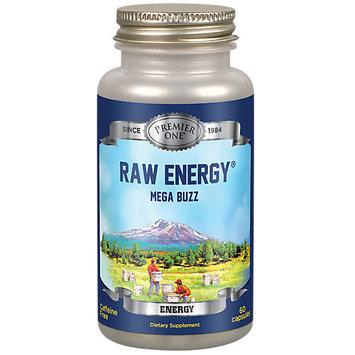 Premier One - Raw Energy Mega Buzz Caffeine Free - 60 Capsules