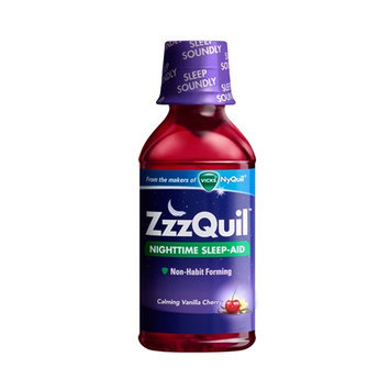 ZzzQuil Nighttime Sleep-Aid Calming Vanilla Cherry Liquid