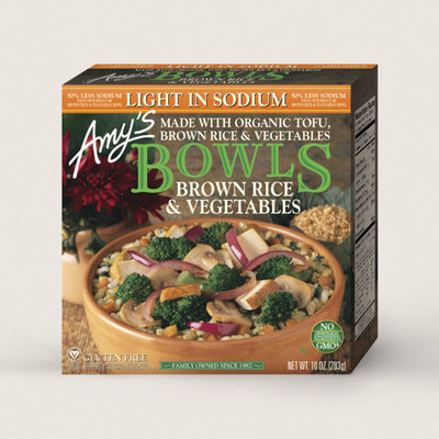 Amy's Kitchen Brown Rice & Vegetables Bowl, Light In Sodium
