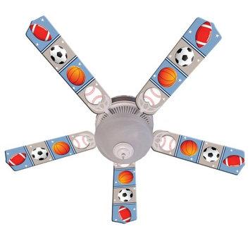 Ceiling Fan Designers Kids Play Ball Indoor Ceiling Fan, Size: 42 in.