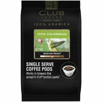 Club Coffee 100% Arabica 100% Colombian Medium Roast Single Serve Coffee Pods
