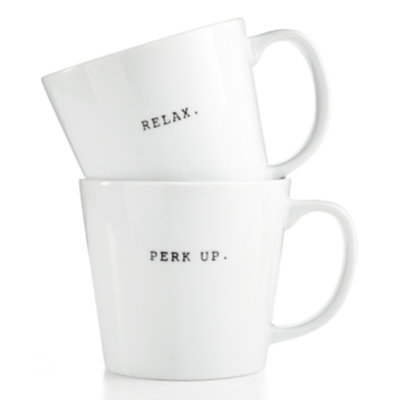 The Cellar Whiteware Words Mug