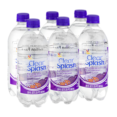 Ahold Clear Splash Raspberry Blackberry - 6 PK