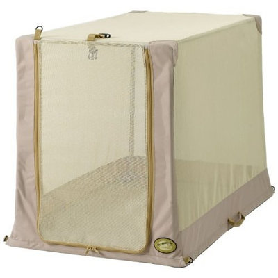 General Cage It'z a Breeze Too 28-Inch by 48-Inch by 36-Inch Tubular Tent Crate, Tan Fabric and Tan Mesh